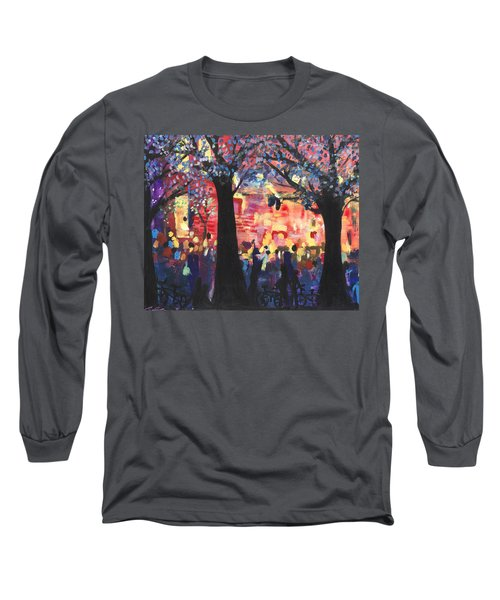 Concert On The Mall Long Sleeve T-Shirt by Leela Payne