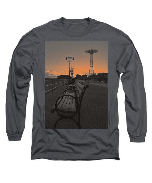 Coney Island Evening Long Sleeve T-Shirt