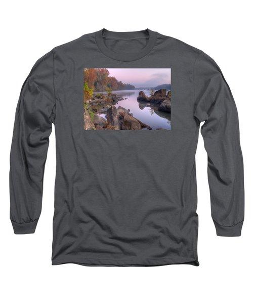 Congaree River At Dawn-1 Long Sleeve T-Shirt by Charles Hite