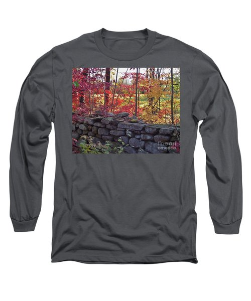 Connecticut Stone Walls Long Sleeve T-Shirt