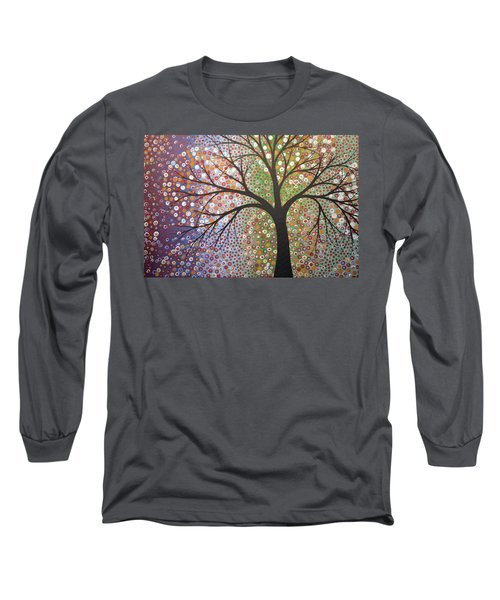 Long Sleeve T-Shirt featuring the painting Constellations by Amy Giacomelli