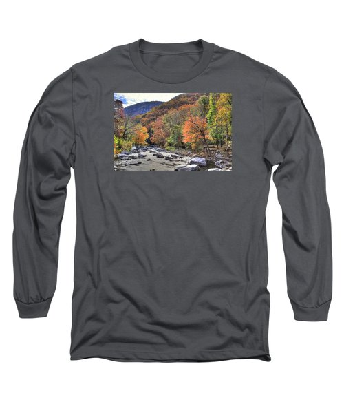 Cool Mountain Stream Long Sleeve T-Shirt