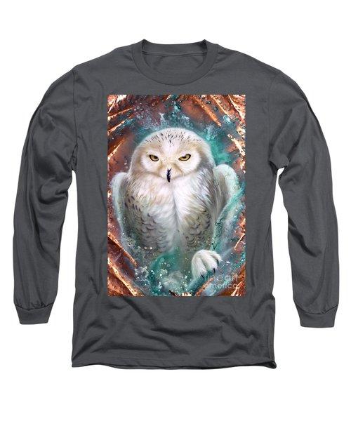 Copper Snowy Owl Long Sleeve T-Shirt