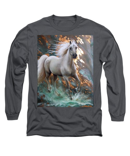 Copper Sundancer - Horse Long Sleeve T-Shirt by Sandi Baker