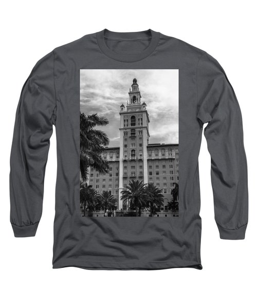 Coral Gables Biltmore Hotel In Black And White Long Sleeve T-Shirt