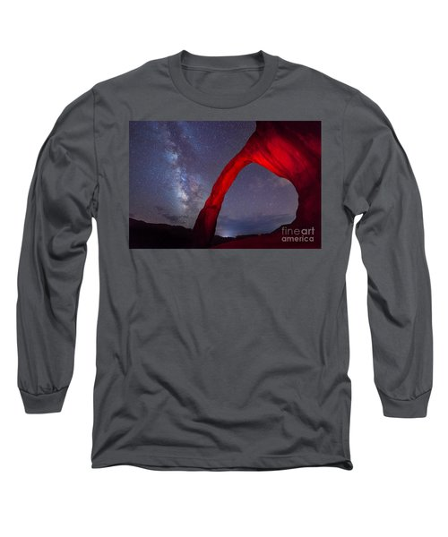 Corona Arch Milk Way Red Light Long Sleeve T-Shirt