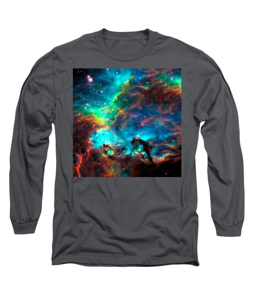 Cosmic Cradle 2 Star Cluster Ngc 2074 Long Sleeve T-Shirt by Jennifer Rondinelli Reilly - Fine Art Photography