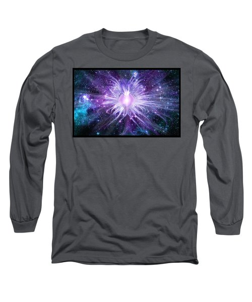 Long Sleeve T-Shirt featuring the digital art Cosmic Heart Of The Universe by Shawn Dall