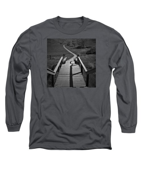 Coulee Stairs Long Sleeve T-Shirt by Donald S Hall