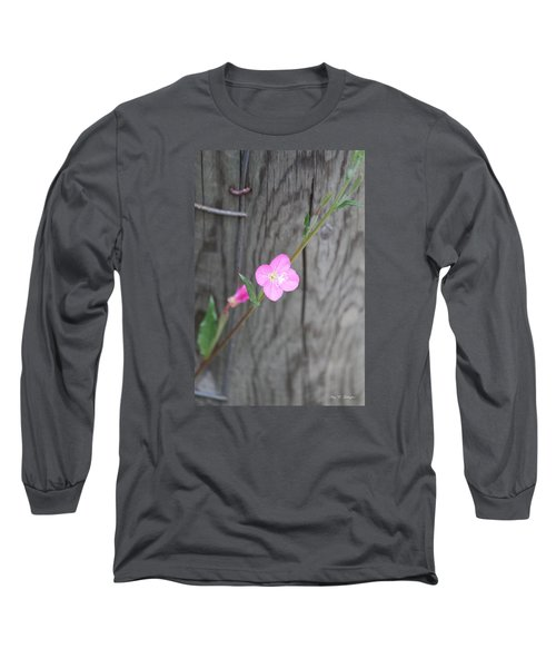 Long Sleeve T-Shirt featuring the photograph Country Flower  by Amy Gallagher
