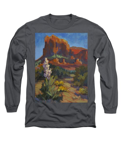 Courthouse Rock Sedona Long Sleeve T-Shirt by Diane McClary