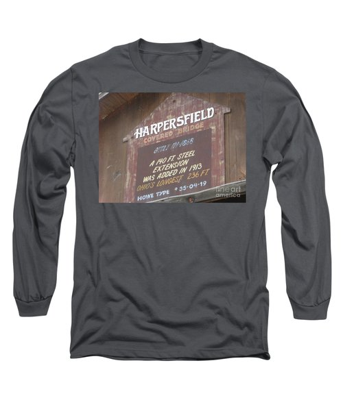 Long Sleeve T-Shirt featuring the photograph Covered Bridge  by Michael Krek