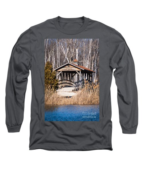 Covered Bridge Long Sleeve T-Shirt by Patrick Shupert