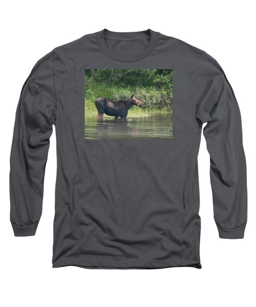 Cow Moose Breakfast Long Sleeve T-Shirt