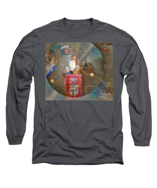 Cowgirl Cadillac Long Sleeve T-Shirt by Mayhem Mediums