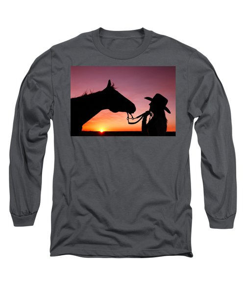 Cowgirl Sunset Long Sleeve T-Shirt