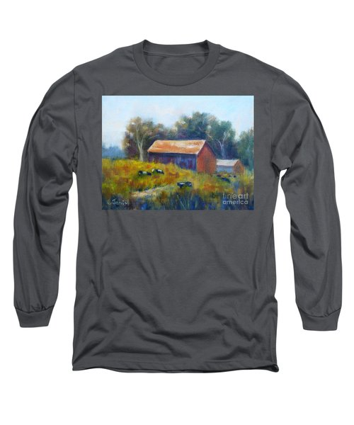 Cows By The Barn Long Sleeve T-Shirt