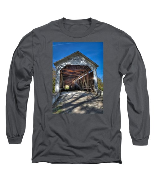 Cox Ford Covered Bridge Long Sleeve T-Shirt by Alan Toepfer
