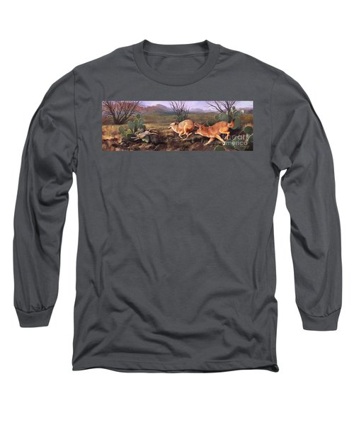 Long Sleeve T-Shirt featuring the painting Coyote Run by Rob Corsetti