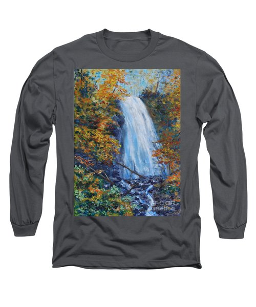 Crab Apple Falls Long Sleeve T-Shirt by Stanton Allaben