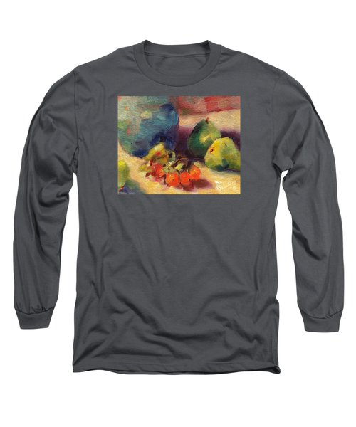 Long Sleeve T-Shirt featuring the painting Crab Apples And Pears by Michelle Abrams