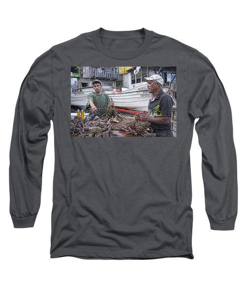 Crabbers At Popotla Long Sleeve T-Shirt
