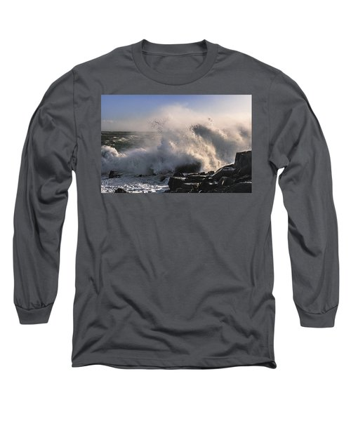 Crashing Surf Long Sleeve T-Shirt by Marty Saccone