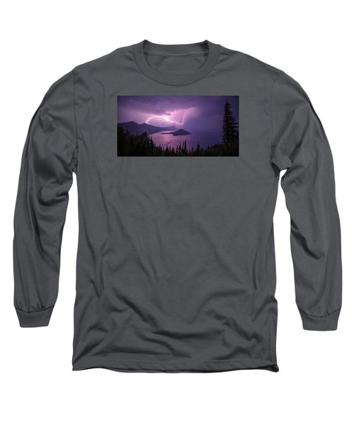 Crater Storm Long Sleeve T-Shirt by Chad Dutson