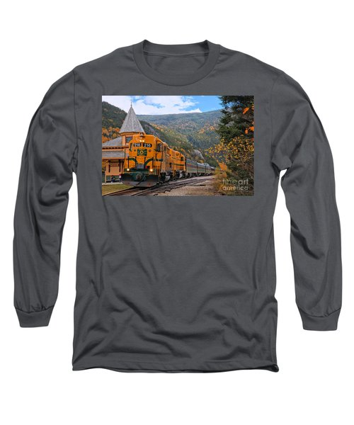Crawford Notch Train Depot Long Sleeve T-Shirt