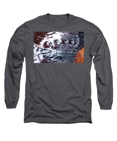 Creek Twirls Abstract Macro Long Sleeve T-Shirt