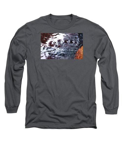 Creek Twirls Abstract Macro Long Sleeve T-Shirt