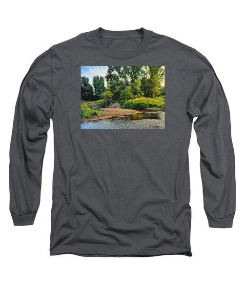 Creek's Bend Long Sleeve T-Shirt by Bruce Morrison