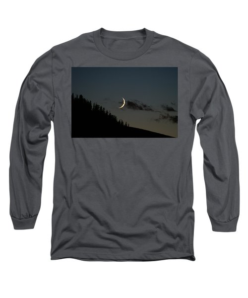 Long Sleeve T-Shirt featuring the photograph Crescent Silhouette by Jeremy Rhoades