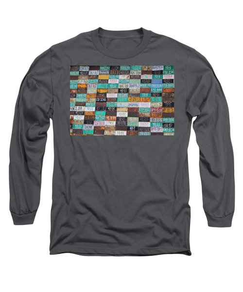 Crested Butte License Plate House Long Sleeve T-Shirt