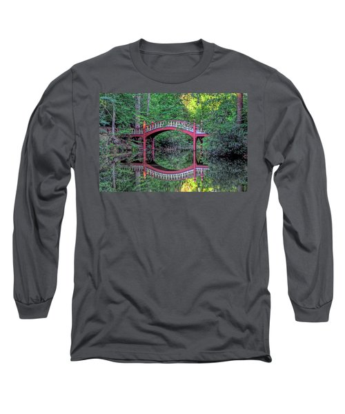 Crim Dell Bridge In Summer Long Sleeve T-Shirt