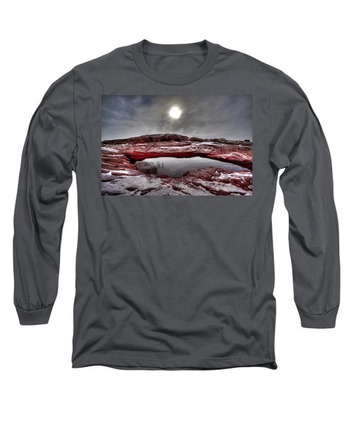 Long Sleeve T-Shirt featuring the photograph Crimson Arch by David Andersen