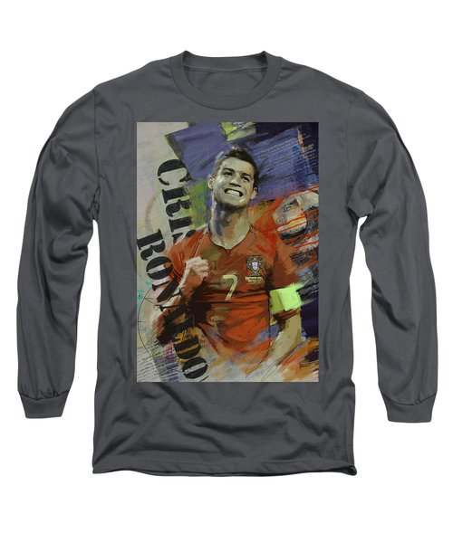 Cristiano Ronaldo - B Long Sleeve T-Shirt by Corporate Art Task Force