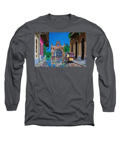 Capilla De Cristo - Old San Juan Long Sleeve T-Shirt by The Art of Alice Terrill