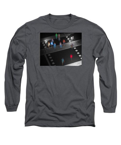 Crosswalk Long Sleeve T-Shirt by Pedro L Gili