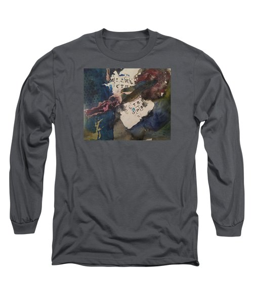 Cruci What Long Sleeve T-Shirt by Becky Chappell