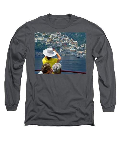 Cruising The Amalfi Coast Long Sleeve T-Shirt by Keith Armstrong