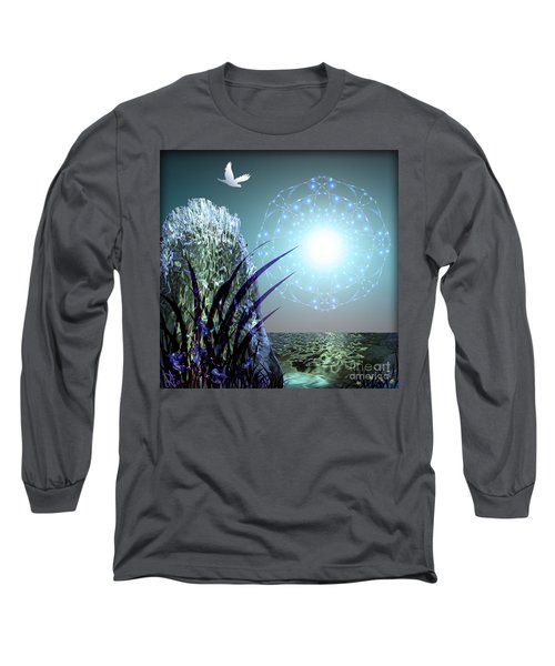 Crystal Breathing Rock Long Sleeve T-Shirt by Rosa Cobos
