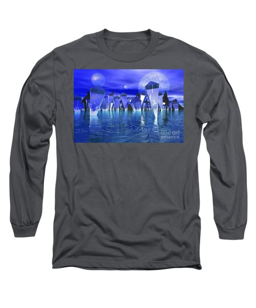 Crystal River Long Sleeve T-Shirt by Mark Blauhoefer