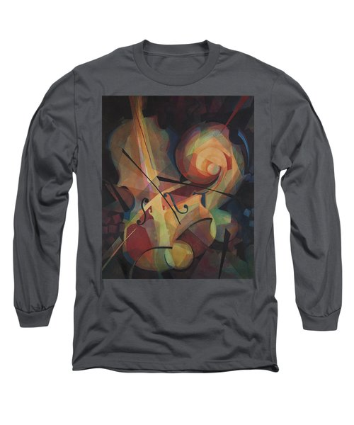Cubist Play - Abstract Cello Long Sleeve T-Shirt