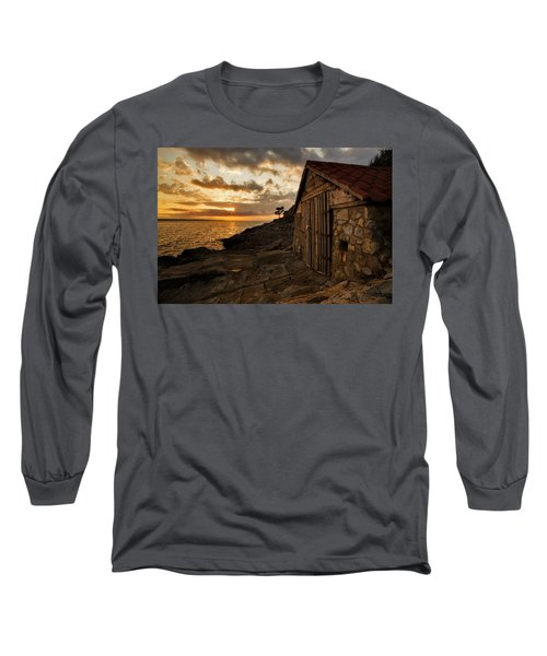 Cunski Beach At Sunrise Long Sleeve T-Shirt