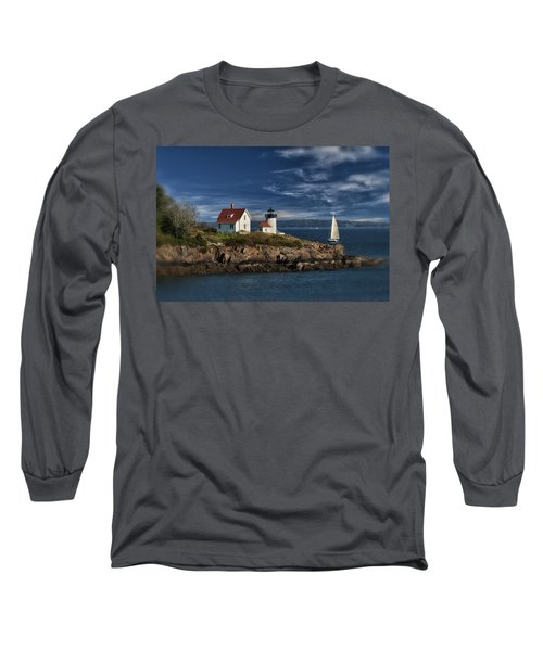 Curtis Island Lighthouse Maine Img 5988 Long Sleeve T-Shirt by Greg Kluempers