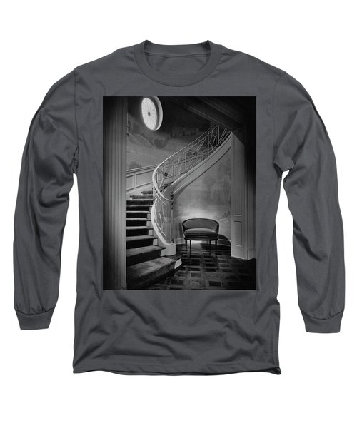 Curving Staircase In The Home Of  W. E. Sheppard Long Sleeve T-Shirt
