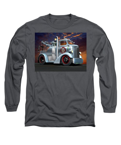 Custom Coe Tow Truck Long Sleeve T-Shirt by Stuart Swartz