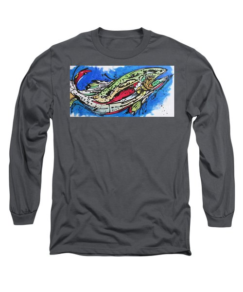 Long Sleeve T-Shirt featuring the painting Cutty by Nicole Gaitan