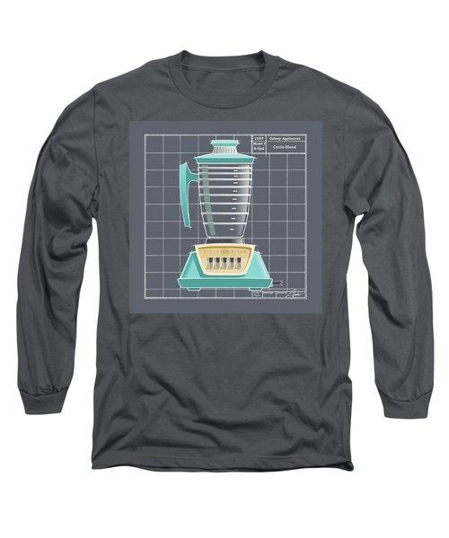 Cyclo-blend - Aqua Long Sleeve T-Shirt